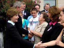 u s  department of defense  photo essay     president george w  bush and first lady laura bush meet   family members of those
