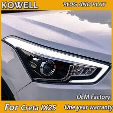 KOWELL <b>Car Styling</b> For hyundai ix25 headlights For hyundai Creta ...
