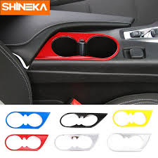 <b>SHINEKA ABS Car</b> Styling Front Cup Holder Decoration Cover Trim ...