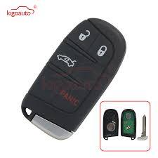 <b>Kigoauto</b> M3N 40821302 <b>Smart key</b> 4 button 434Mhz for Jeep ID46 ...
