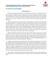 contrast essay amp outline sample