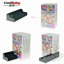<b>2pcs</b>/<b>lot</b> Game Card <b>Box Storage Stand</b> CD Disk <b>Holder</b> Support For ...