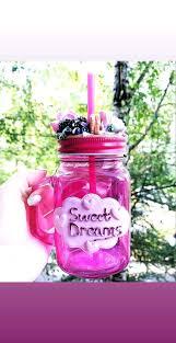 <b>Баночка для напитков</b> с цветами и ягодами из полимерной глины ...
