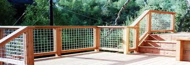 wire patio fencing ideas
