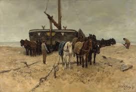 <b>Fishing boat</b> on the beach - Anton Mauve — Google Arts & Culture