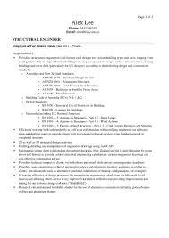 alex lee structural engineer resume