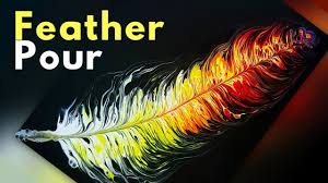 PAINT KISS FEATHER - <b>New Acrylic</b> Paint Pouring Technique with ...