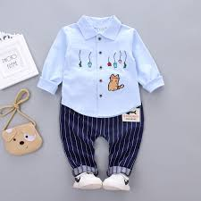 2019 Spring Autumn Fshion <b>Baby Boys</b> Cotton <b>Clothes</b> Embroidery ...