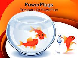 best goldfish powerpoint templates crystalgraphics powerpoint template displaying smiling goldfish leaving bowl hobo bundle