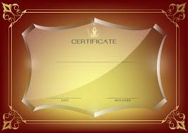 red certificate template png image fullsize