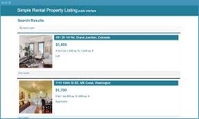 rental property listing app template caspio