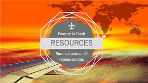 teacher resume example teach away inc passport to teach resources recorded webinars and resume samples