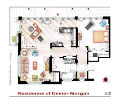 Incredibly Detailed Floor Plans Of The Most Famous TV Show HomesDexter