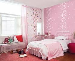 bedroom historic pink teenage girls room interior design with windows bay nook and artistic mosaic wallpaper and red rug stylish and charming bedroom charming bedroom ideas red