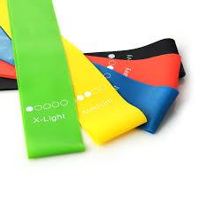 <b>5 Colors</b> Medium Tension <b>Yoga Resistance</b> Bands Elastic Thigh ...