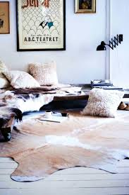 faux cowhide rug contemporary living  astounding faux cowhide rug floral southwest rugs manual in bathroom