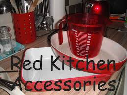 Red Retro Kitchen Accessories Large Red Utensil Holders Red Kitchen Accessories