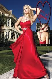 سهرةملابس حمراء تجمع بين فساتين سهرة وازياء اطفال وملابس مع