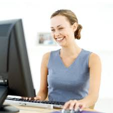 Image result for person at work using computer