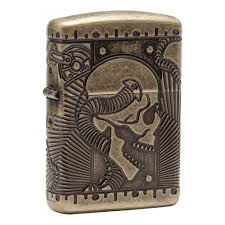 <b>Зажигалка ZIPPO Armor™</b> с покрытием Antique Brass, медная ...