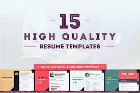 the best cv resume templates examples design shack 15 resume templates ultra bundle