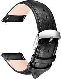 SONGDU Quick Release <b>Leather Watch Band</b>, Full Grain <b>Genuine</b> ...
