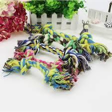 <b>1pcs Puppy Dog Pet Toy</b> Cotton Braided Bone Rope Chew Knot <b>Toy</b> ...