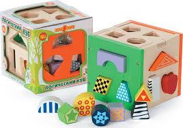 """<b>Игрушка деревянная</b> - Куб логический """"<b>Папа Карло</b>"""" — купить в ..."""