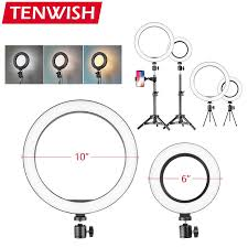 Tenwish Dimmable 26cm/<b>16cm LED Ring Light</b> Selfie Fill-in Lighting ...