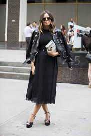 work outfit ideas for the first day of fall glamour first day of fall outfit idea lbd black dress leather jacket