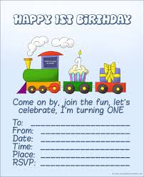 20 cute 1st birthday invitations printable and original the first birthday train a cupcake and a present printable