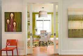 modern office space inspiration for a modern home office remodel in minneapolis with green walls medium blue modern home office