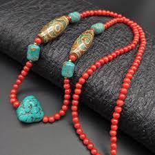 Shuangsheng 2019 <b>new</b> 5MM coral women necklace <b>bohemian</b> ...