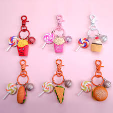 KOMi Handmade <b>Simulation</b> Hot Dog Keyring Cake Sandwich ...