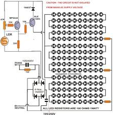 led light driver circuit diagram the wiring diagram how to build automatic night light control or switch circuit diagram