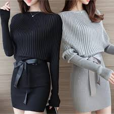 Women's <b>Fashion Autumn</b>/Spring <b>Knitted</b> Dress Long Sleeve ...