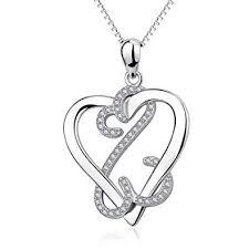 YFN <b>925 Sterling</b> Silver Infinite Eternal Love <b>Heart Pendant</b> ...