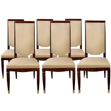 a set of six art deco dining chairs by maurice jallot at 1stdibs art deco dining furniture