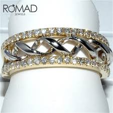 <b>ROMAD</b> New Twist Classical <b>Cubic Zirconia</b> Wedding Engagement ...