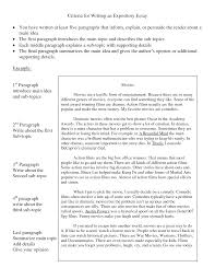 example expository essay template example expository essay