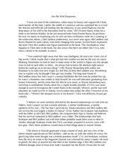 ap english essay response to into the wild   into the wild  ap english essay response to into the wild   into the wild responses i have