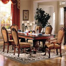 fabric chairs dining area