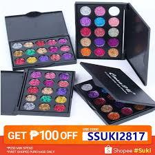 <b>15 Colors Diamond Shimmer</b> Glitter Eyeshadow Palette Matte ...