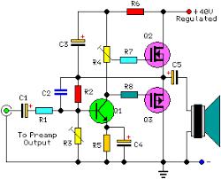 watt audio power amplifier schematic circuit diagram