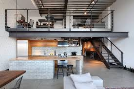 capitol hill loft urban open concept kitchen photo in seattle with concrete floors and an island brooklyn industrial office