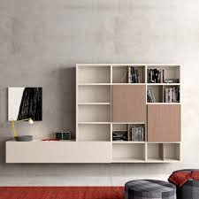 contemporary wall mounted media unit brown by morassutti bespoke wall storage