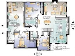 Multi family plan W detail from DrummondHousePlans com    st level Intergenerational house plan  family unit w  bedrooms  amp  large living