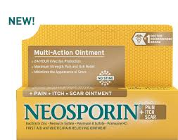 Minimize the appearance of scars | NEOSPORIN® + <b>Pain</b>, <b>Itch</b>, <b>Scar</b>