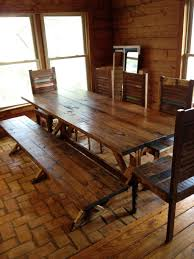 Dining Room Tables For 10 Rustic Dining Room Table Bench Photo 1 Room Christmas Decoration
