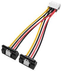 Разветвитель Vention <b>Molex 4 pin</b> - 2xSATA 15 pin (KDCBB) 0.15 м